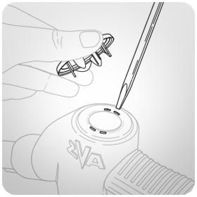 Схема установки значка EK 145 на пистолет стандарта Elaflex ZVA